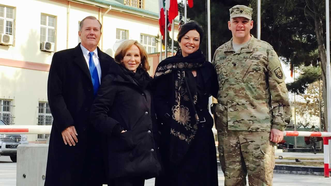 ABC7 News Anchor Cheryl Jennings went on a secret mission to Afghanistan with the San Rafael-based non-profit called Roots of Peace.