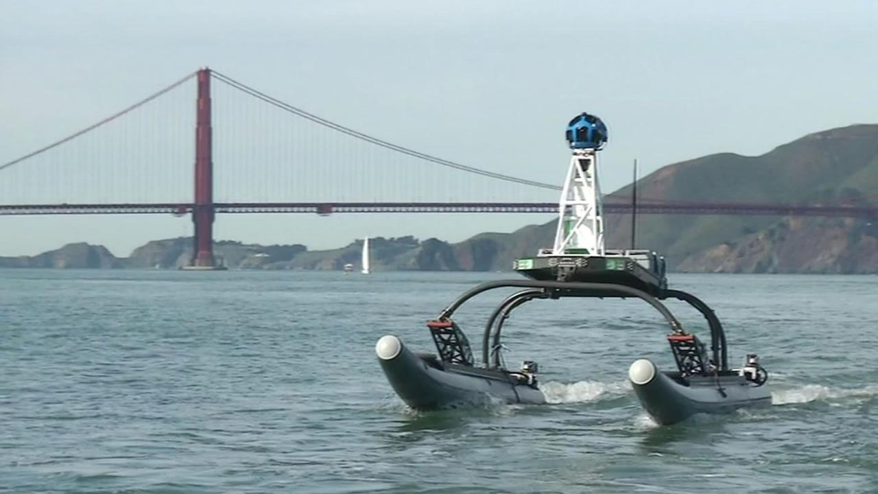Googles Trekker maps the San Francisco Bay on Feb. 12, 2015.