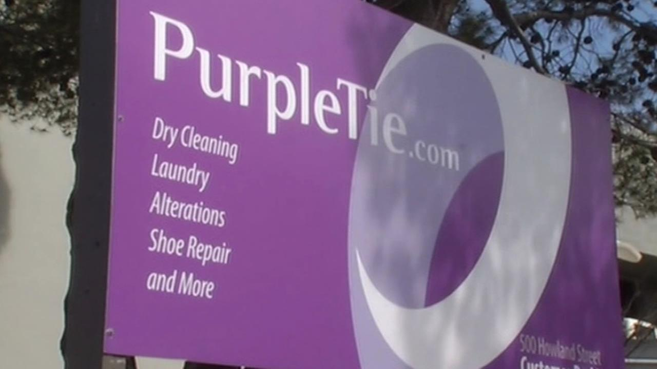 Purpletie.com sign