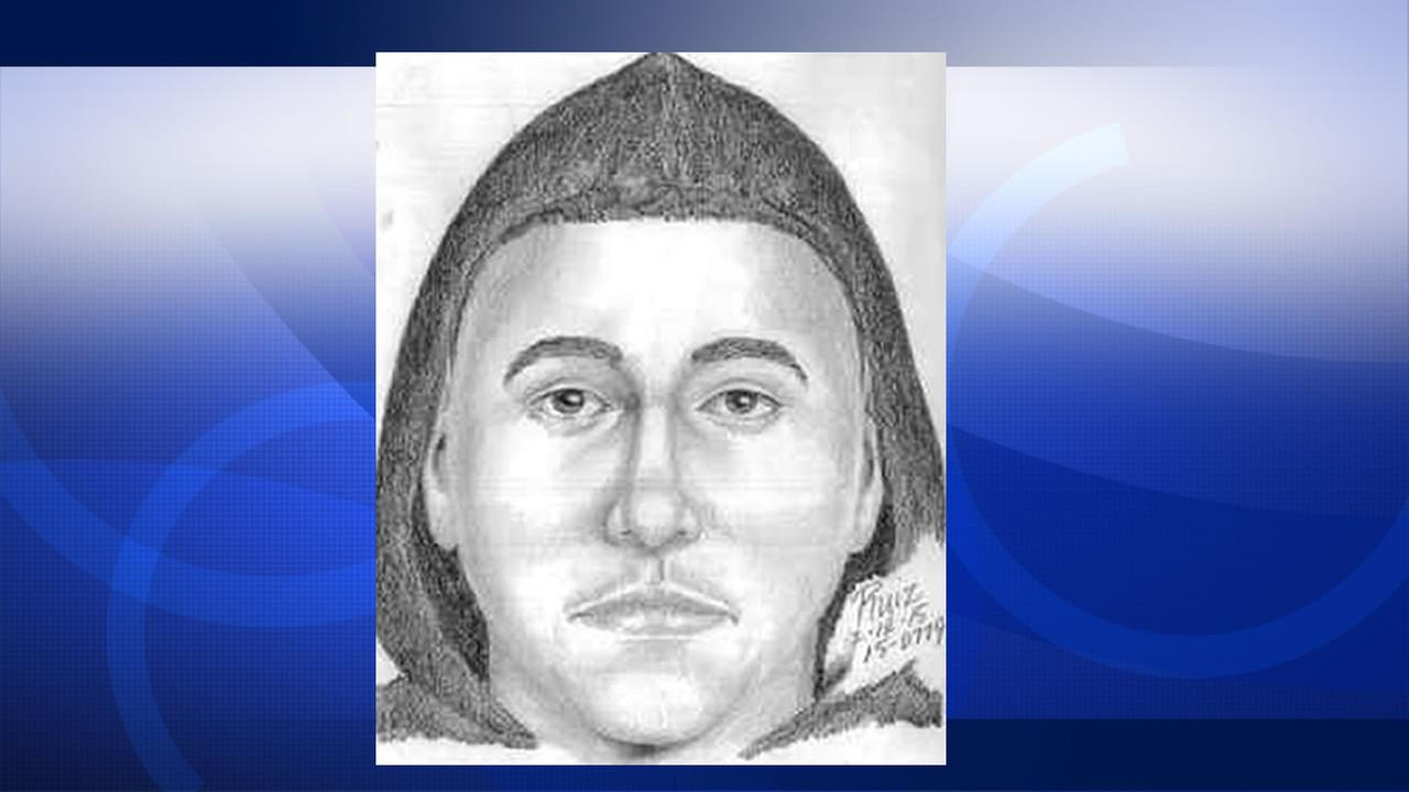 Sketch of man wanted for taking pictures of a woman in a bathroom at Cubberley Community Center in Palo Alto.