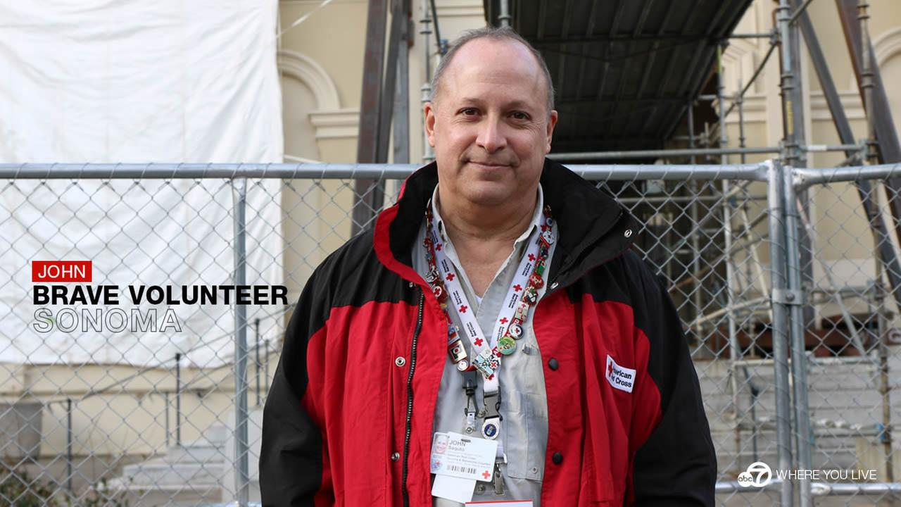 BRAVE VOLUNTEER: After a disaster, people like Red Cross volunteer, John Saguto jump right in to lend a hand.