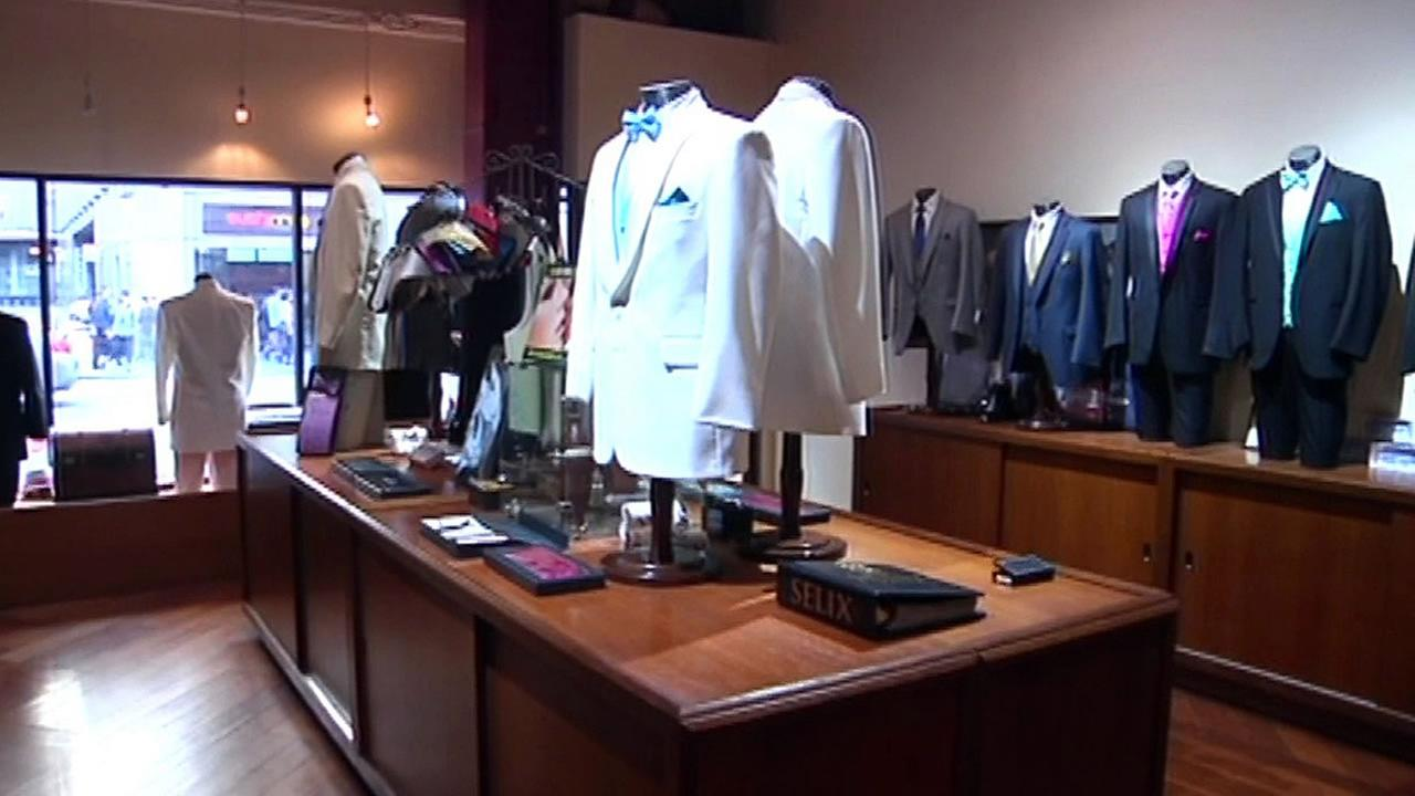 Selix tuxedos on display