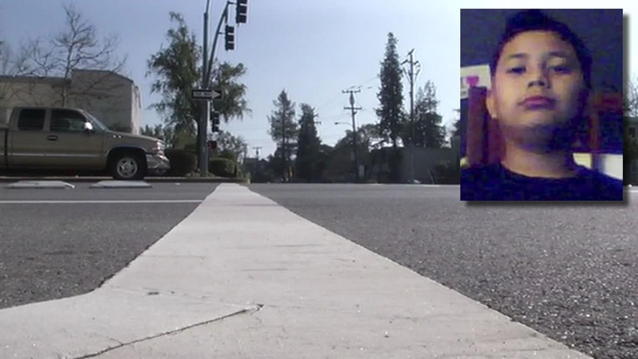Christopher Gonzalez and the intersection where he was hit