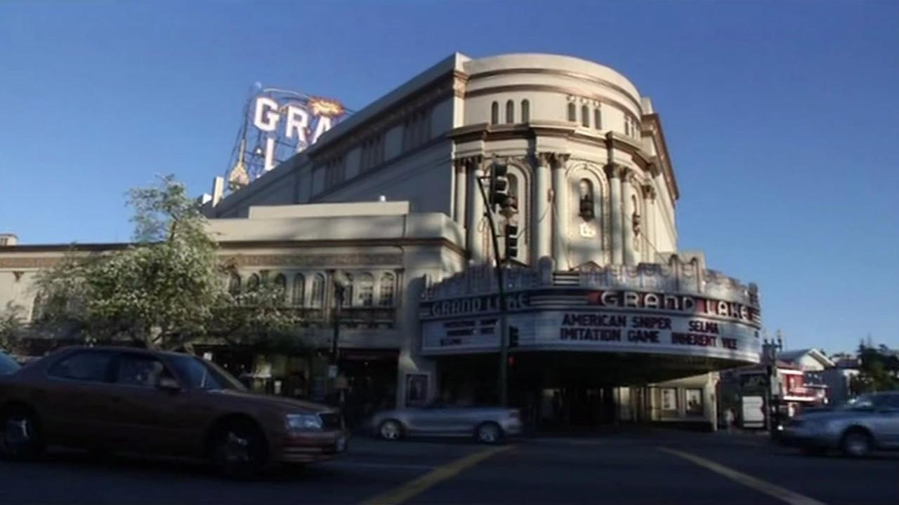 The Grand Lake Theatre is seen in Oakland, Calif., Feb. 2015. (ABC7/Wayne Freedman)
