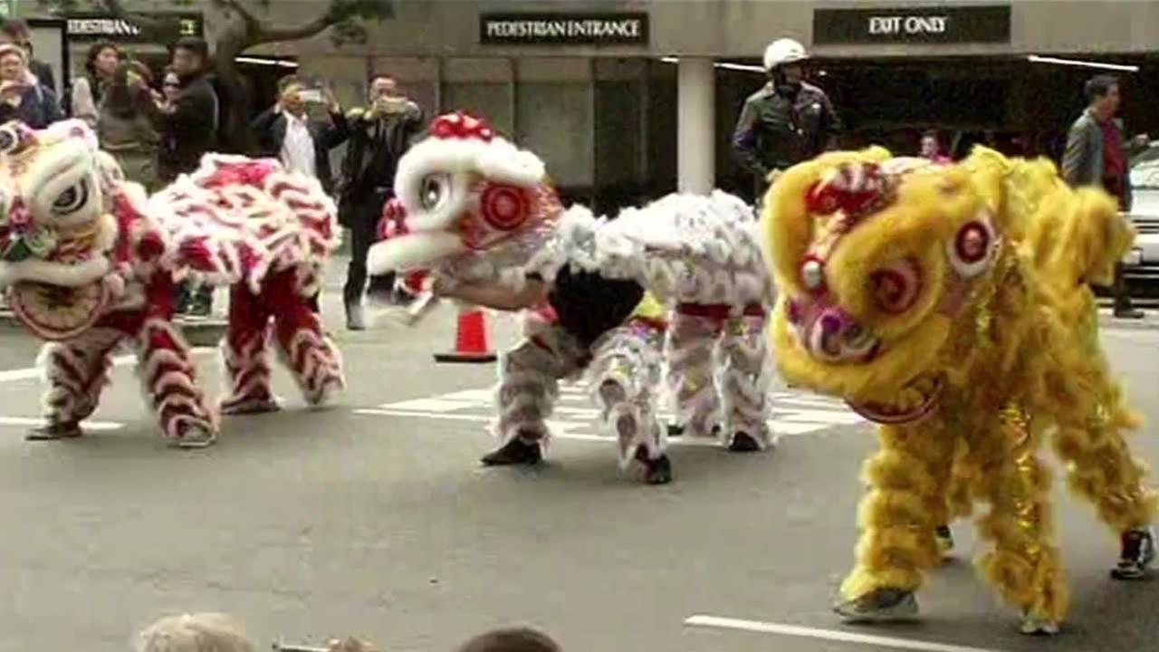 lunar new year parade dancers are seen in san franciscos chinatown on feb 19 - San Francisco Chinese New Year