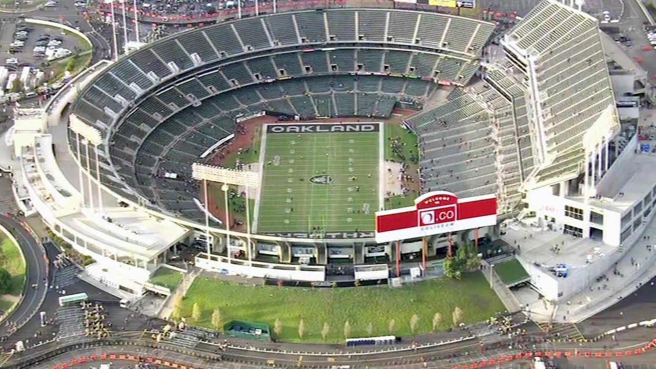 Oakland Coliseum on game day