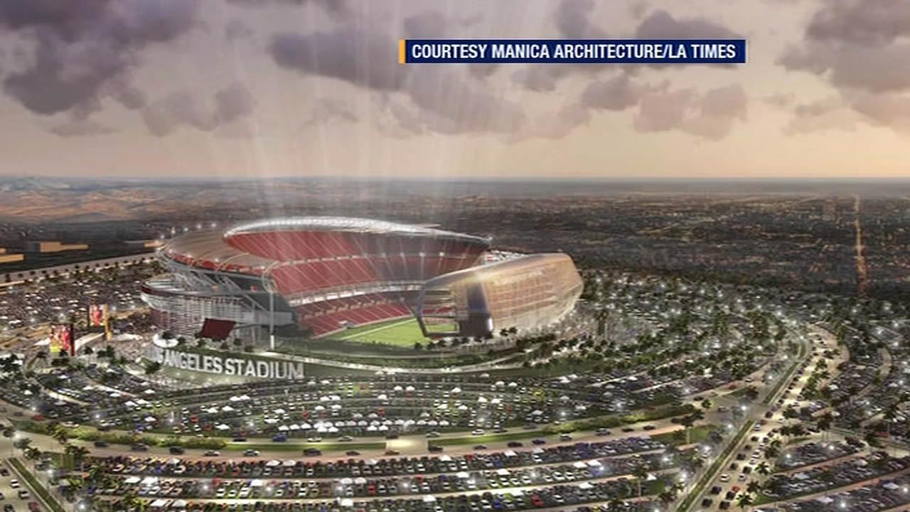 artists rendering of new Los Angeles stadium plans