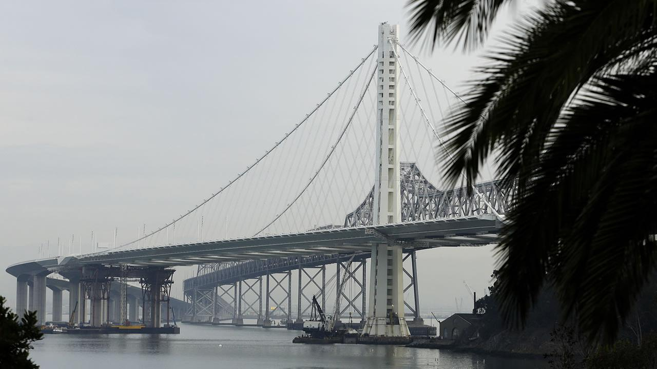 The new and old eastern span of the Bay Bridge