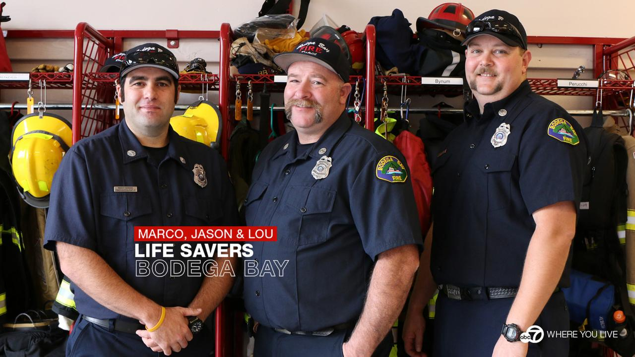 LIFE SAVERS: The Bodega Bay Fire Protection District saved a 4-year-old boy who fell off a cliff.