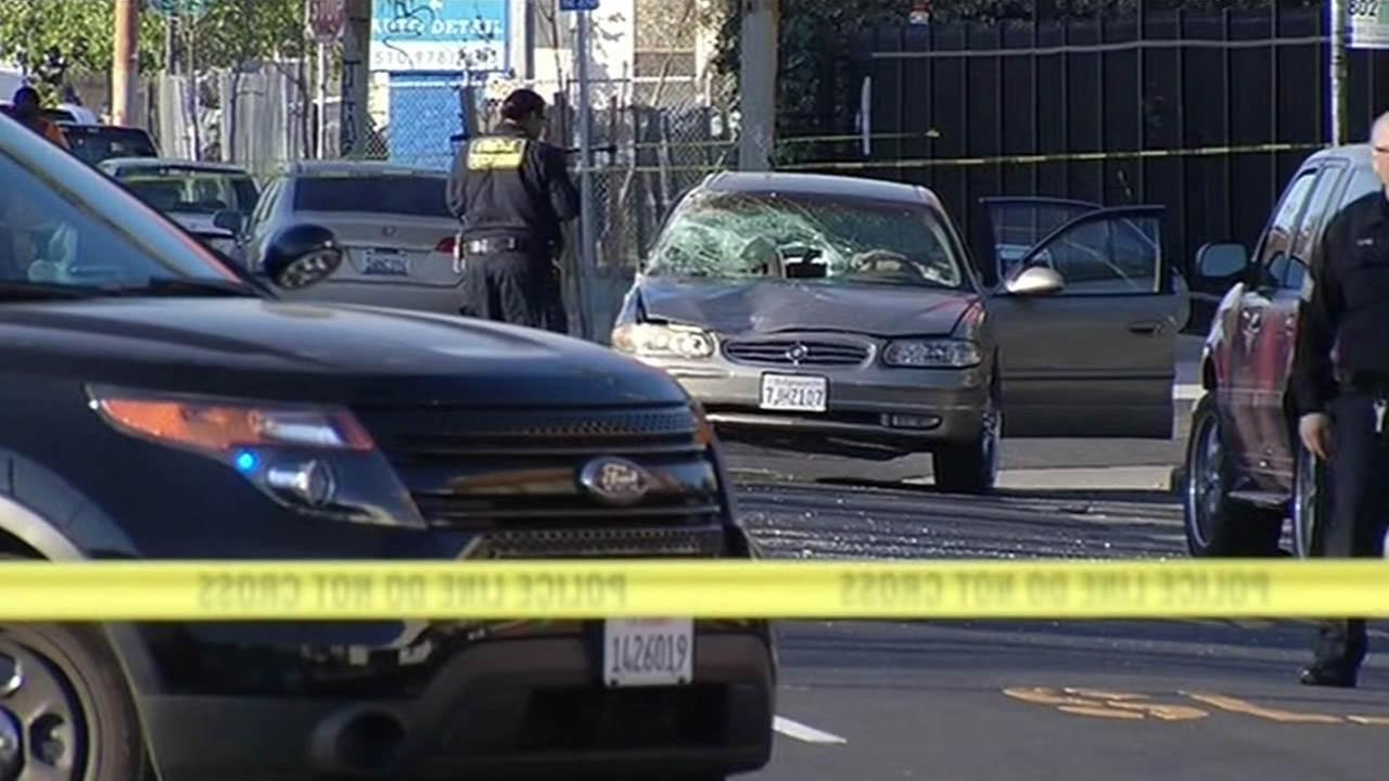 One person died and another was injured during a hit-and-run collision in Oakland, Calif. on Feb. 20, 2015.