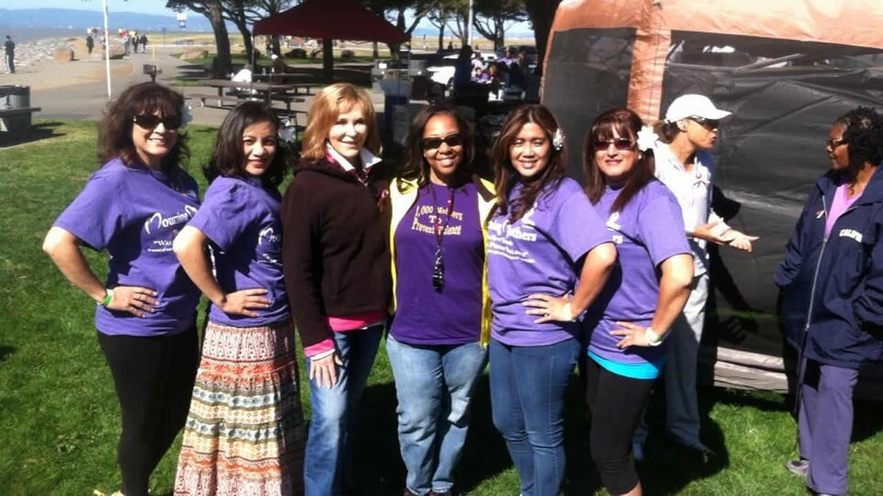 Hundreds of grieving mothers took part in the 1000 Mothers to Prevent Violence walk in San Leandro on Saturday.