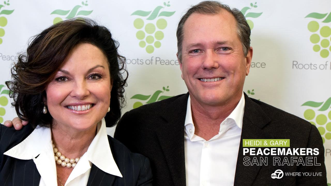 PEACEMAKERS: Heidi and Gary Kuhn started a movement from the basement of their own home in 1997.
