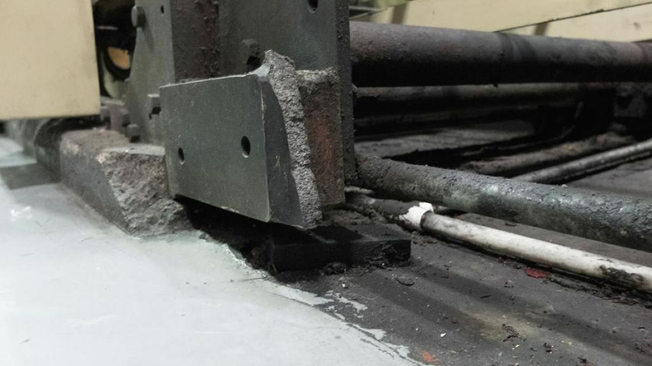 damaged printing pressKGO-TV/Wayne Freedman