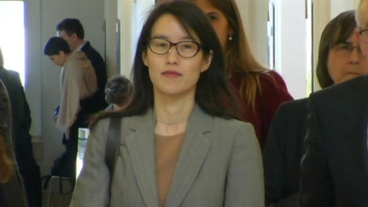 Ellen Pao walks down a hallway after jury selection began in her landmark lawsuit against Kleiner-Perkins in San Francisco on Feb. 23, 2015.