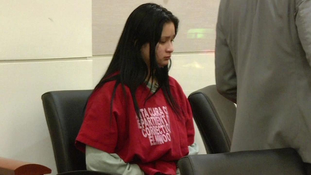 19-year-old Gabriela Ortiz sits in court