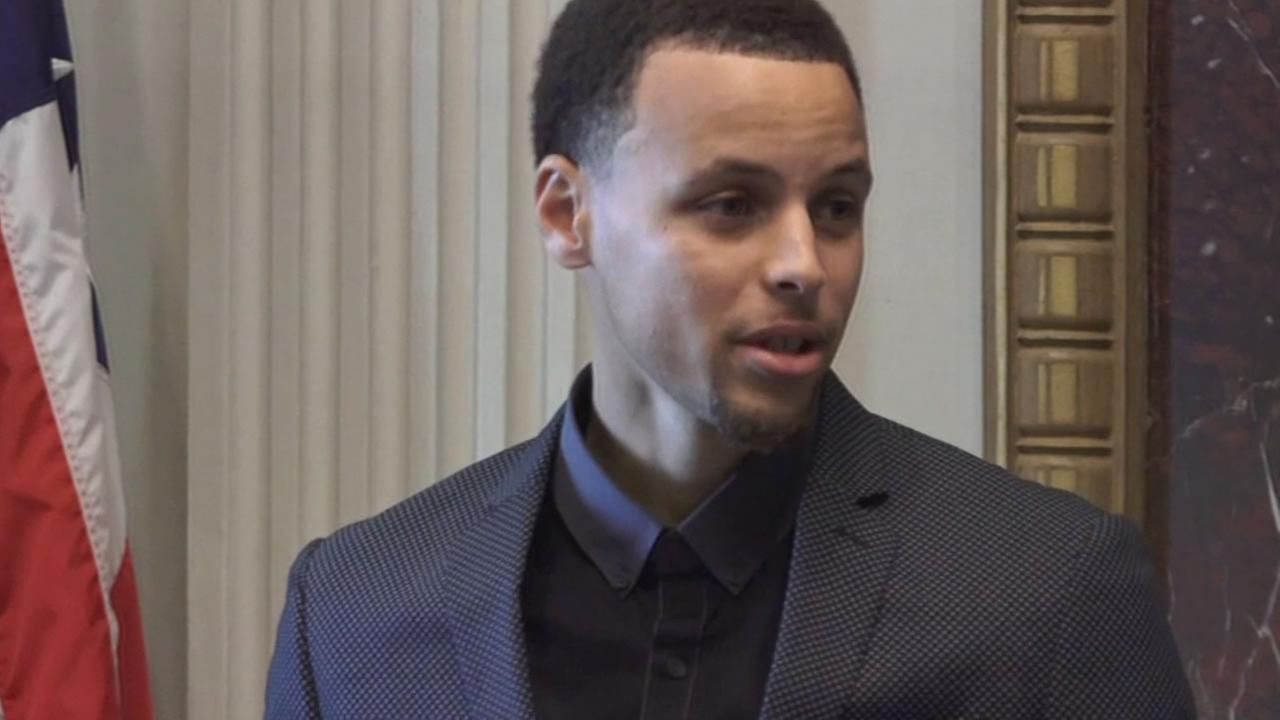 Golden State Warriors guard Stephen Curry spoke at the White House to champion a personal cause, the fight against malaria, on Feb. 25, 2015.