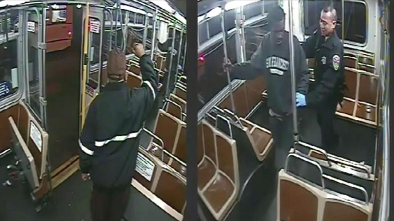 Did a San Francisco police officer go too far when he kicked a man off a Muni bus late at night? Bus security cameras captured the confrontation pretty clearly but what they actually show is up for dispute.