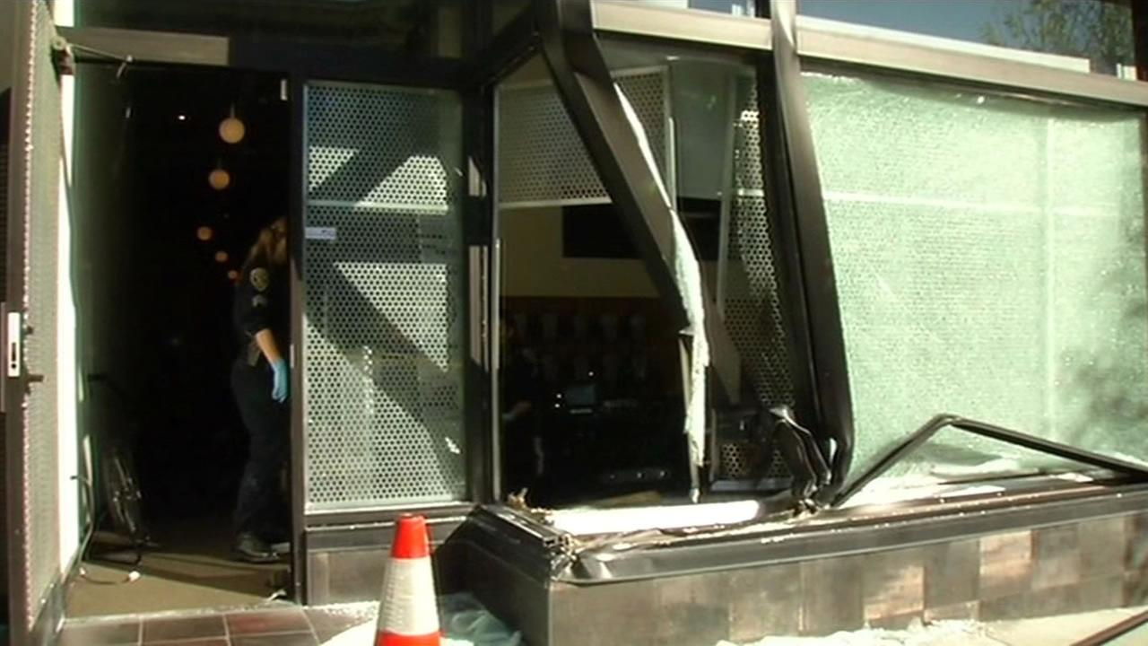 Audio Vision store on California Street in San Francisco was the victim of a crash and grab burglary on Friday.