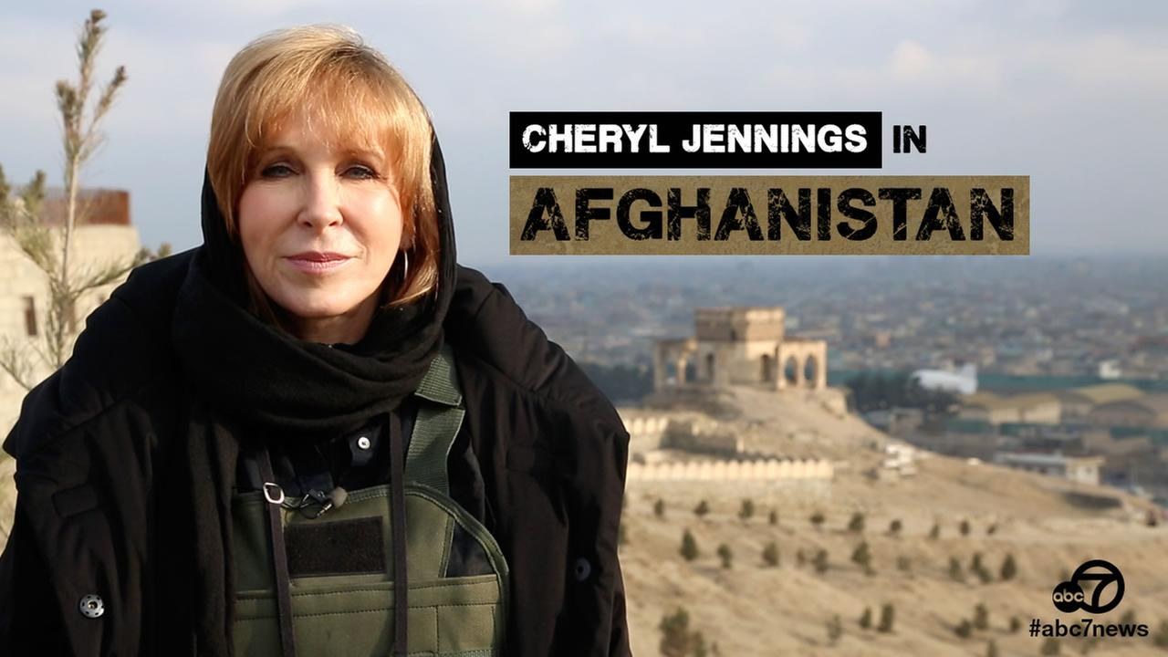 Cheryl Jennings in Afghanistan