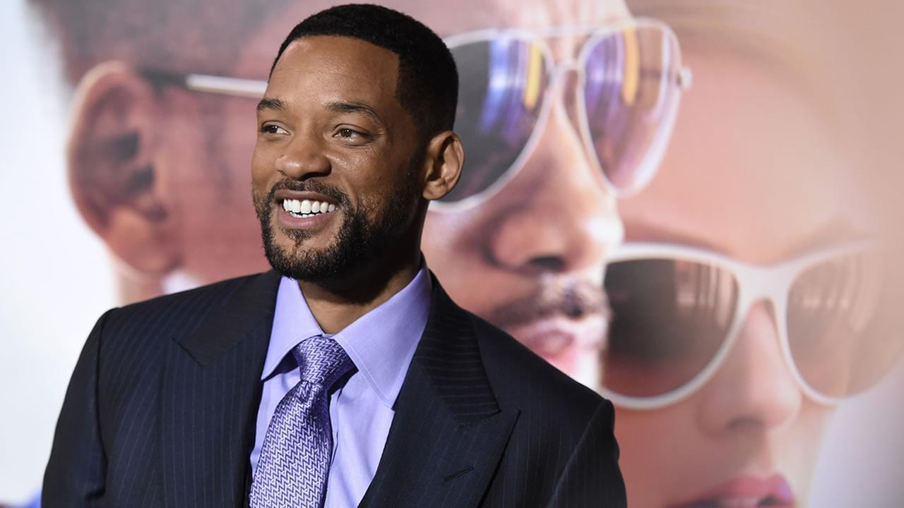 Will Smith arrives at the world premiere of Focus at the TCL Chinese Theatre on Tuesday, Feb. 24, 2015, in Los Angeles. (Photo by Chris Pizzello/Invision/AP)