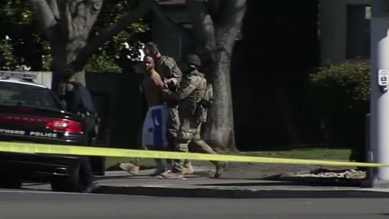 A police standoff that put an East Bay neighborhood on lockdown for 12 hours ended with a dramatic arrest.