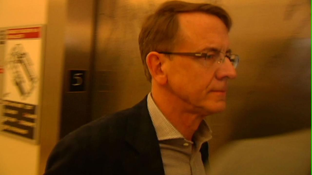 Venture capitalist John Doerr walking into court.