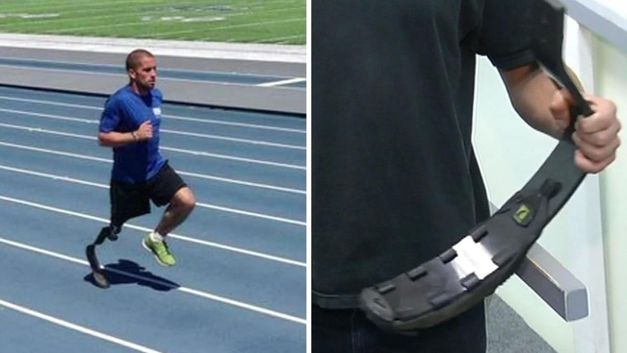 Paralympic hopeful Ranjit Steiner had his prosthetic running leg stolen