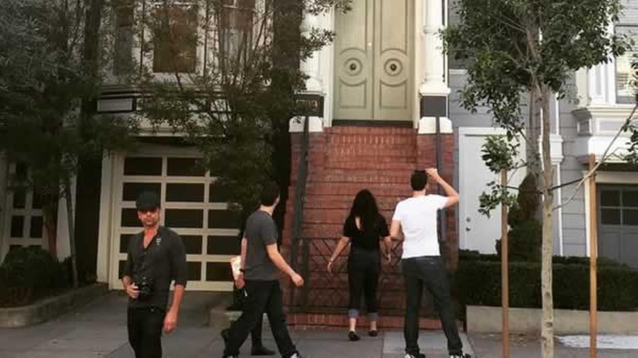 Actor John Stamos Instagram picture showing him in front of the Full House home in San Francisco that was featured in his hit 1980s series.