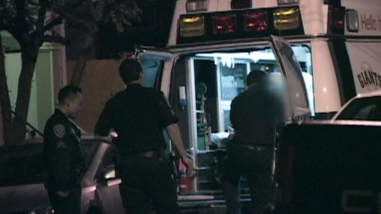 Emergency crews arrive at home in San Franciscos Noe Valley after burglary at a home