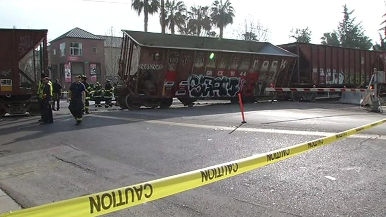 Train derailment in San Jose