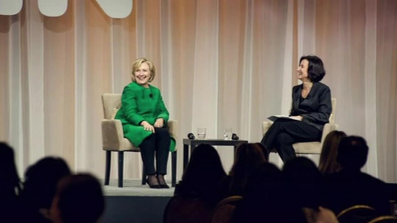 Hillary Clintons surprise visit to eBays Womens Initiative Network Summit.