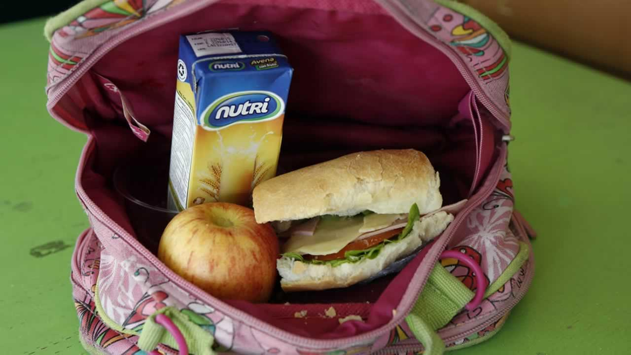 Ecuadorean children bring sack lunches to school, typically a sandwich, juice, yogurt, cookies and piece of fruit. <span class=meta>(AP Photo&#47;Dolores Ochoa)</span>