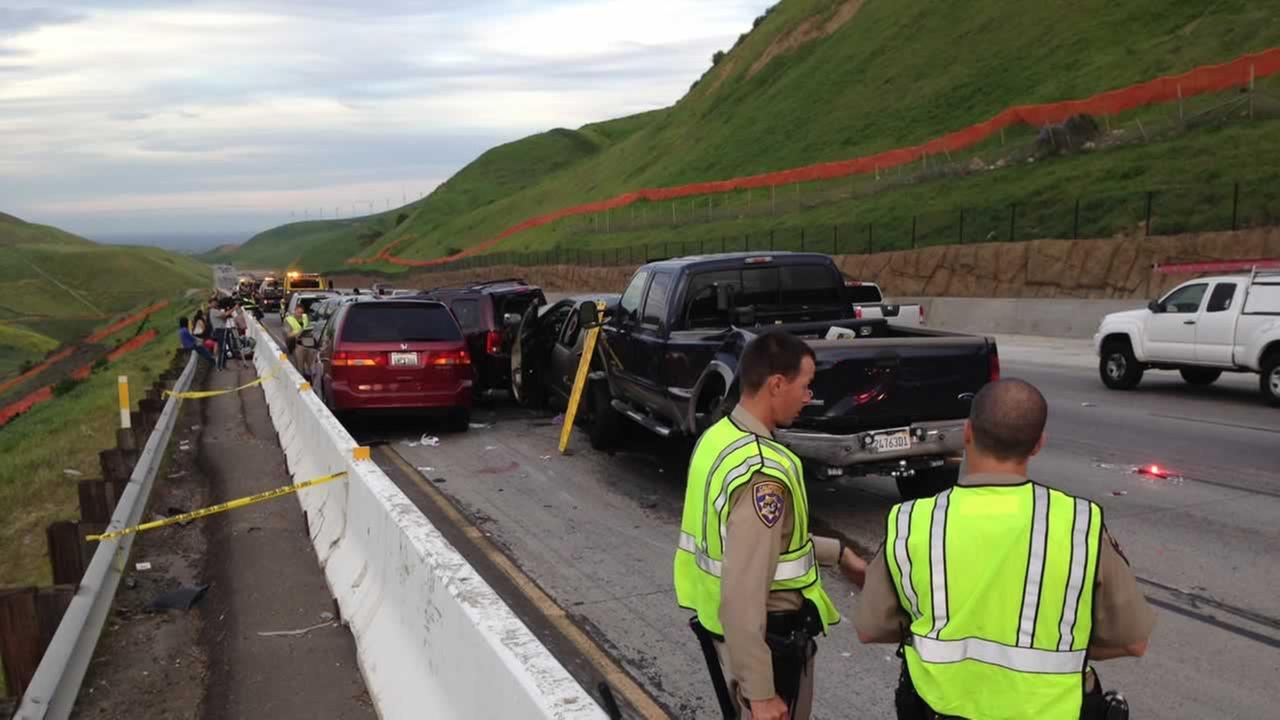 One person has died in a multi-vehicle collision on I-580 east of North Flynn in Livermore.