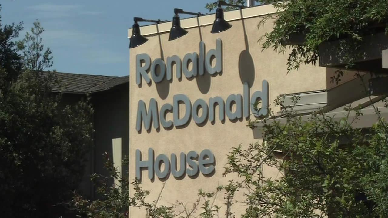 A sign for the Ronald McDonald House at Stanford in Palo Alto, Calif.