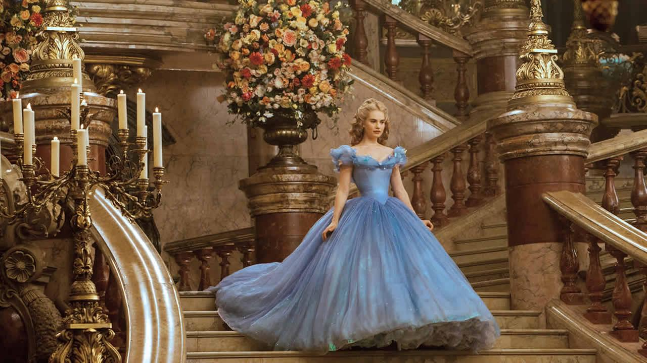 This image released by Disney shows Lily James as Cinderella in Disneys live-action feature film inspired by the classic fairy tale, Cinderella. (AP Photo/Disney, Jonathan Olley)