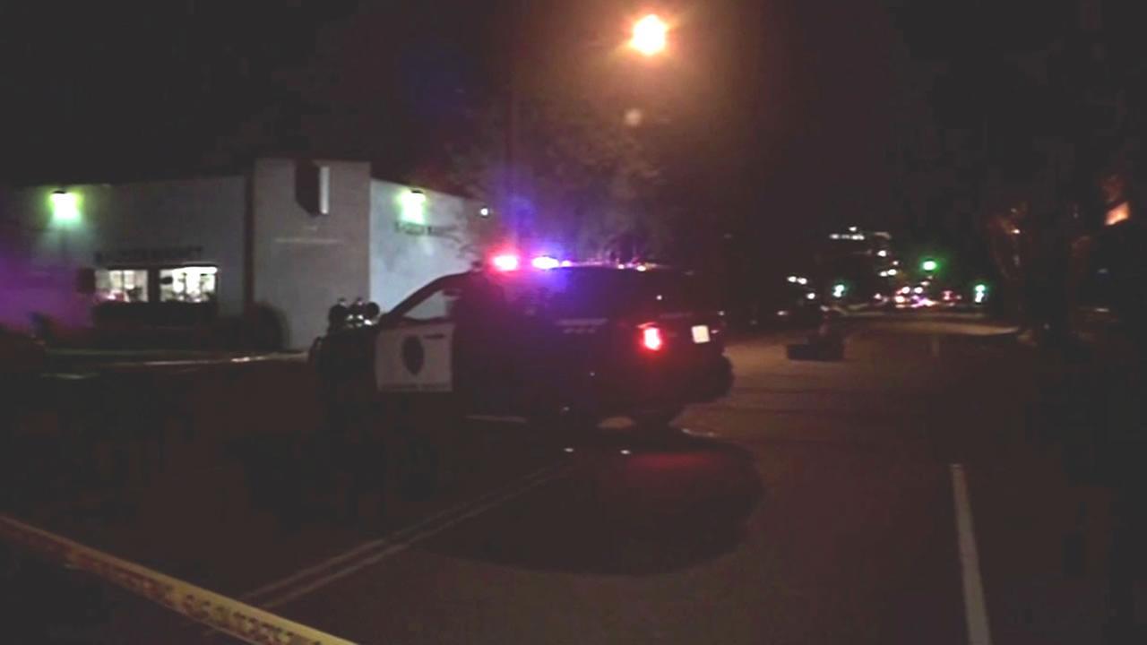Stockton cop car at the scene