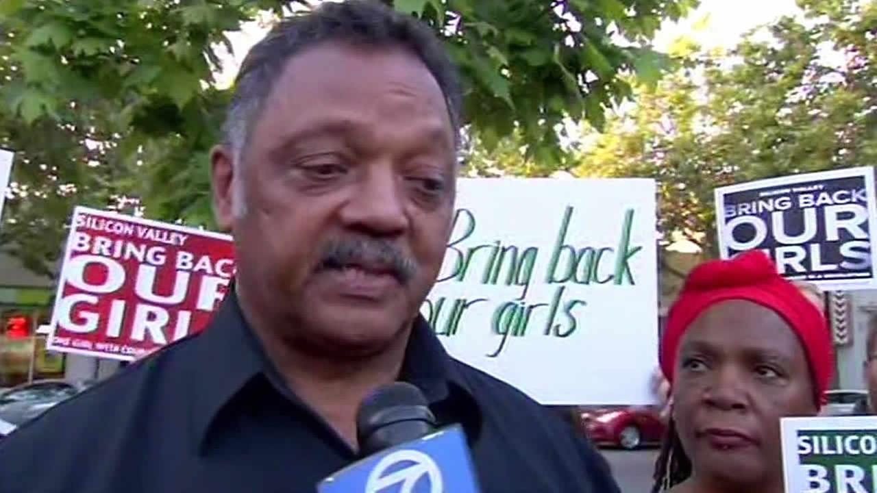 Rev. Jesse Jackson speaks at Bring Back Our Girls rally in Palo Alto