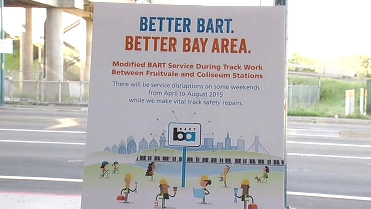 BART officials have announced that tracks will be closed between the Coliseum and Fruitvale stations in Oakland, Calif. starting April 5, 2015.