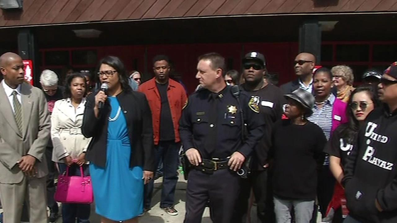 San Francisco Supervisor London Breed, the United Playaz organization and San Francisco police announce a gun buyback that will take place on Saturday.