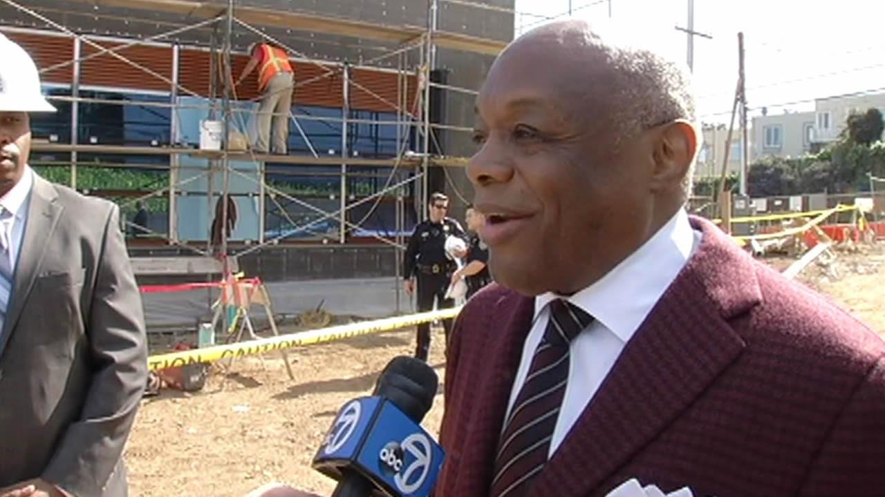 Former San Francisco Mayor Willie Brown toured a school in the citys Bayview District that is named after him on March 19, 2015.
