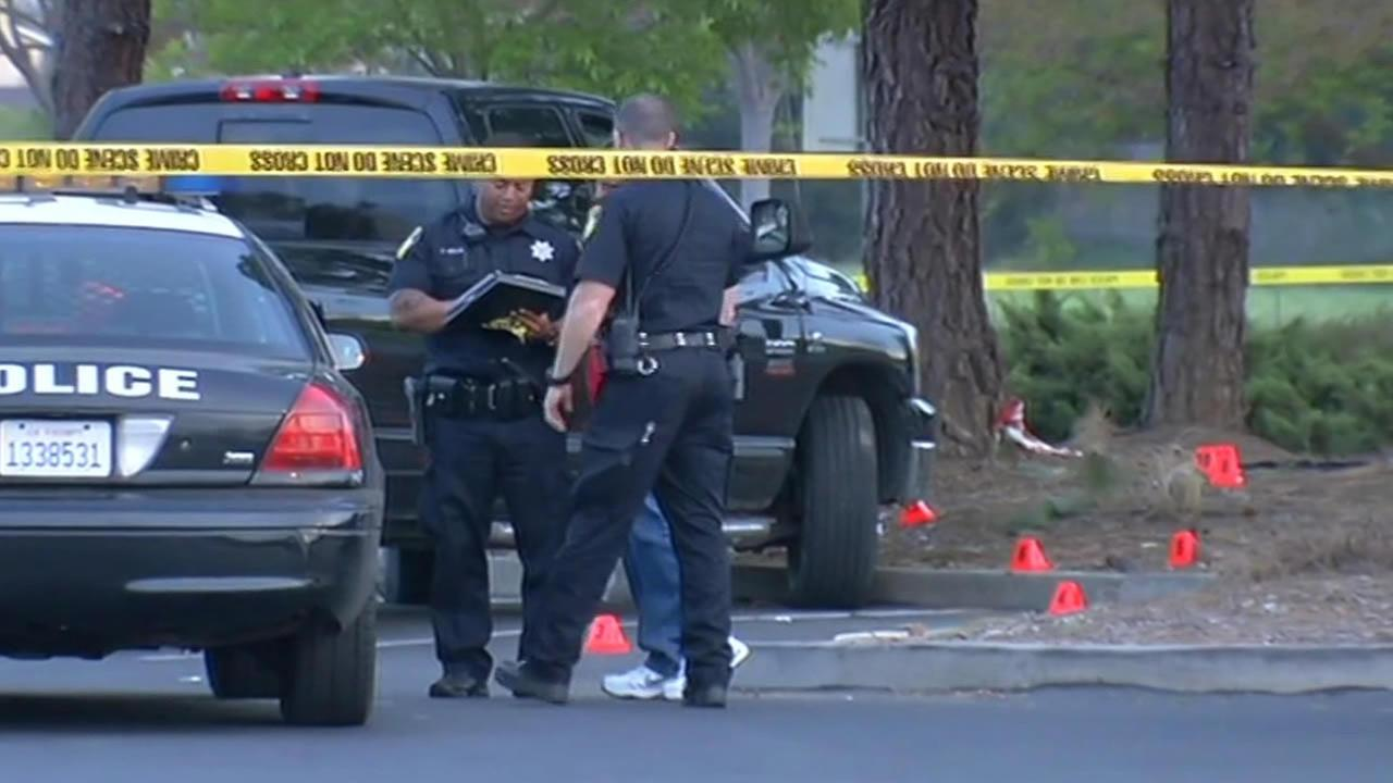 Police investigate a fatal officer-involved shooting in Vallejo, Calif. on March 21,2015.