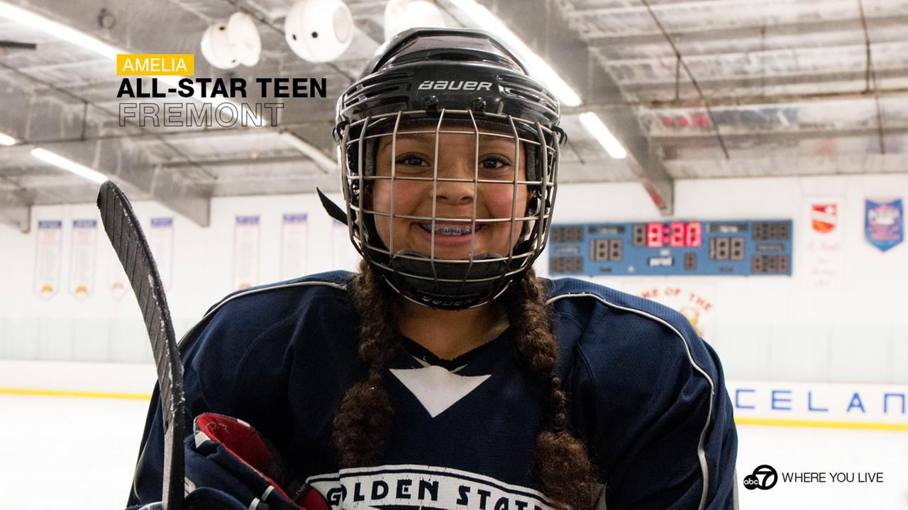 ALL-STAR TEEN: Do you know any hockey players that can also twirl a baton...or three batons at once? We do. Meet Amelia DiPaola.