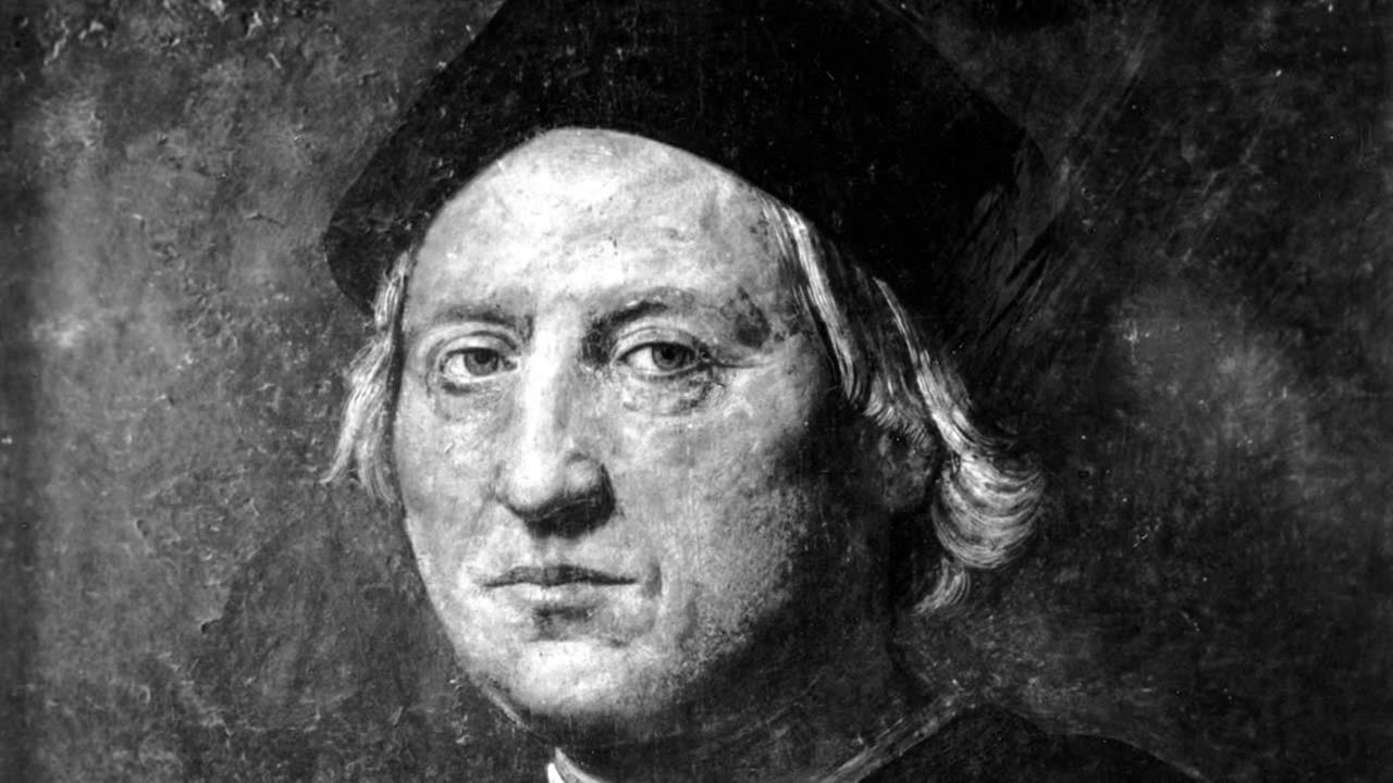 This is an undated portrait of Italian explorer Christopher Columbus attributed to Rodolfo Ghirlandaia. The original is in tGenoa, Italy, Columbus birthplace. (AP Photo)