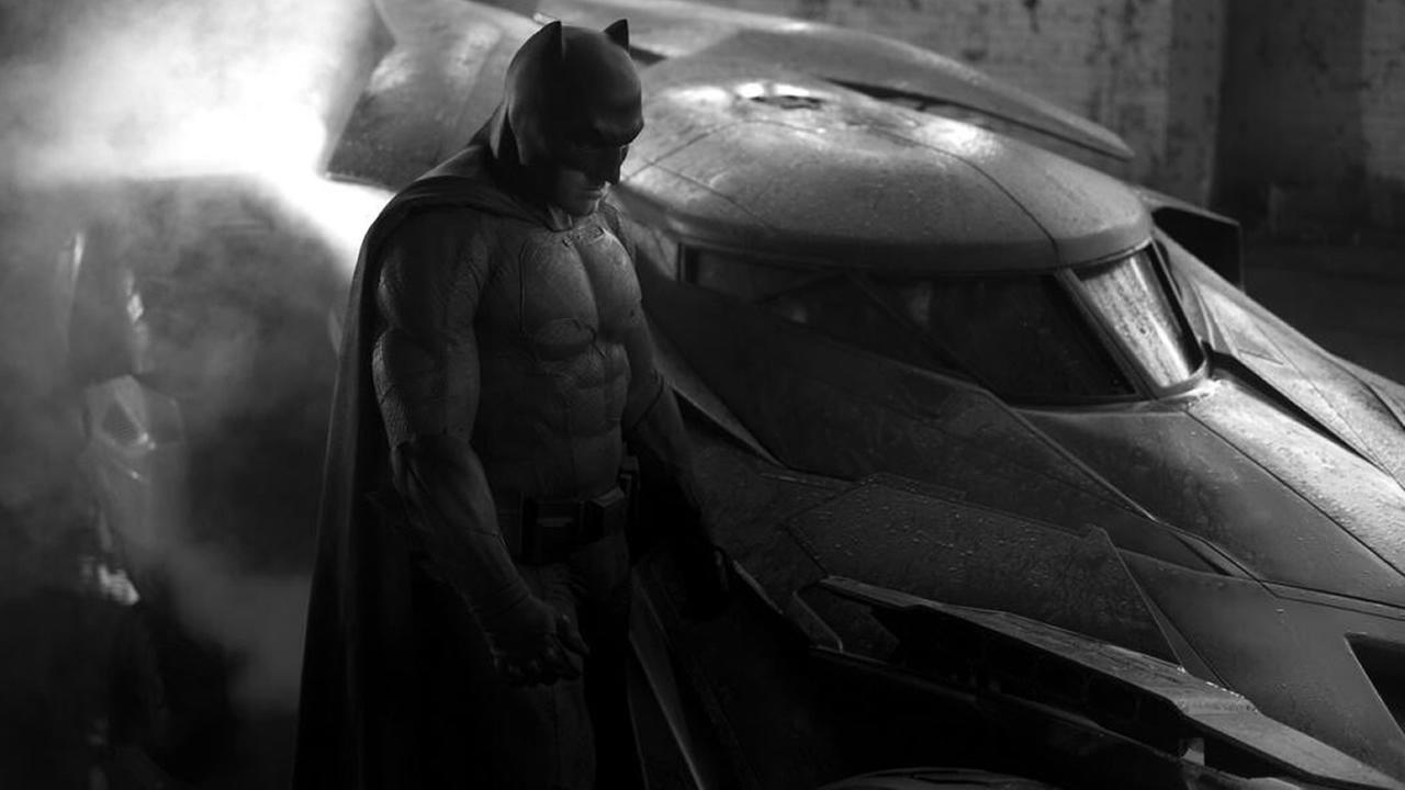 The first official photo of Ben Affleck as Batman, alongside the new Batmobile, has been released. (Courtesy Zack Snyder/Twitter)