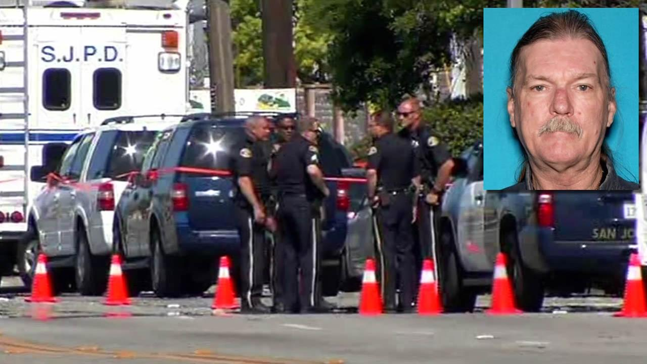 Police say 57-year-old Scott Dunham shot and killed a veteran officer in San Jose, Calif. on March 25, 2015.