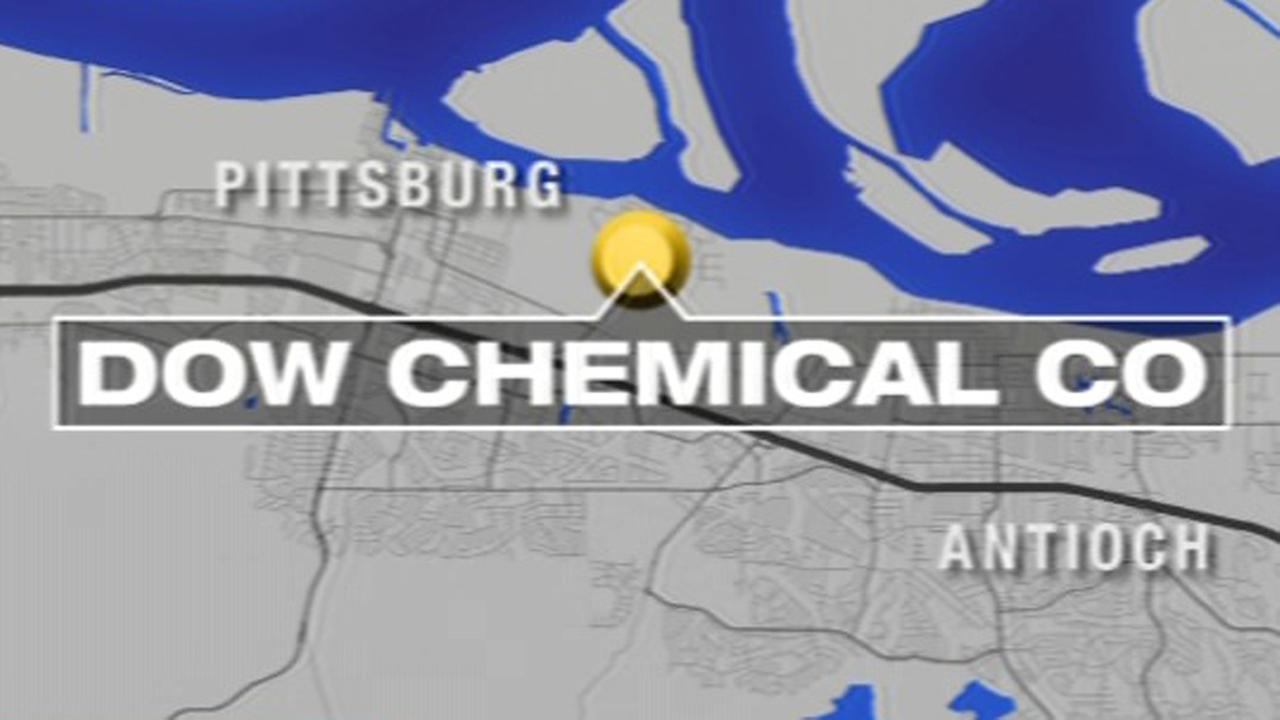 Map of Dow Chemical plant in Pittsburg, California.