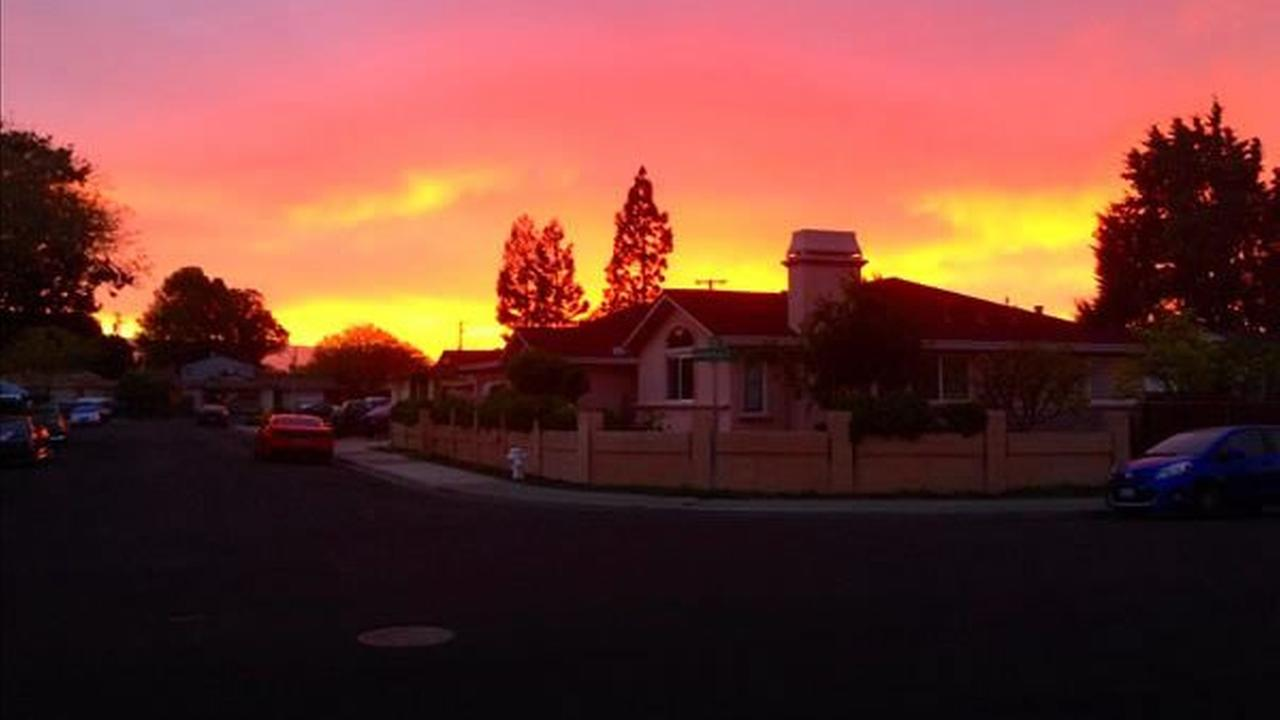 Sunset from Santa Clara (Photo submitted via uReport)