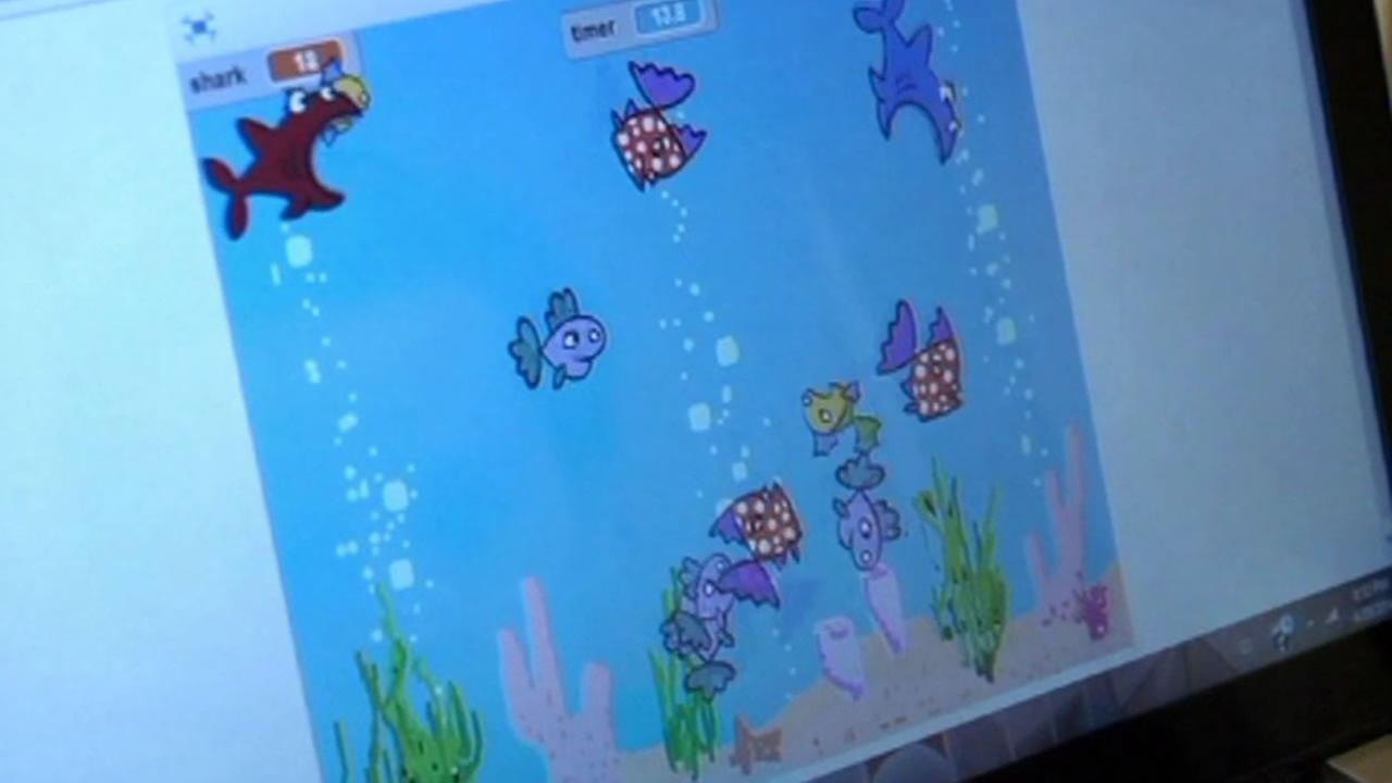 Shark Attack game developed by 9-year-old Ben Hodson.