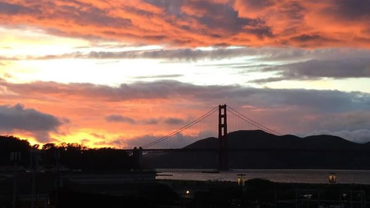 Sunset captured from the Presidio in San Francisco (Photo submitted by Rob L. via uReport)