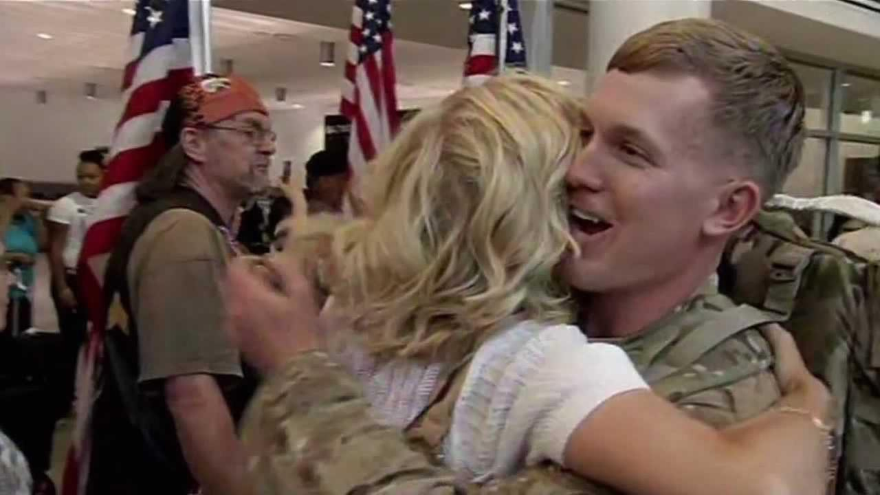 National Guard homecoming at Oakland International Airport.